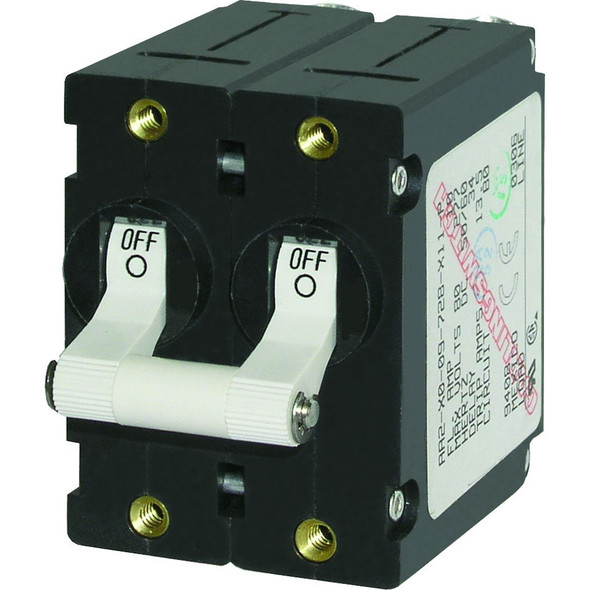Blue Sea 7238 A-Series Double Pole Toggle - 30AMP - White
