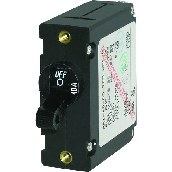 Blue Sea 7224 AC / DC Single Pole Magnetic World Circuit Breaker  -  40 Amp