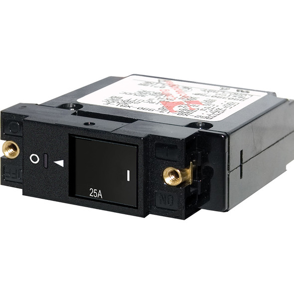 "Blue Sea 7430 Single Pole Small Case 2"" Slot Reset Rocker Circuit Breaker  -  25 Amp"