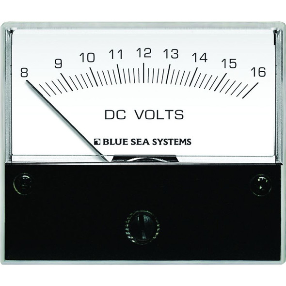 "Blue Sea 8003 DC Analog Voltmeter - 2-3/4"" Face, 8-16 Volts DC"