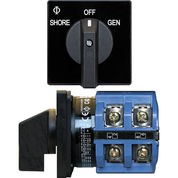 Blue Sea 9011 Switch, AV 120VAC 65A OFF +2 Positions
