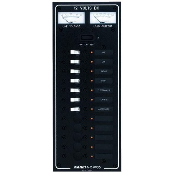 Paneltronics Standard DC 12 Position Breaker Panel w/LEDs