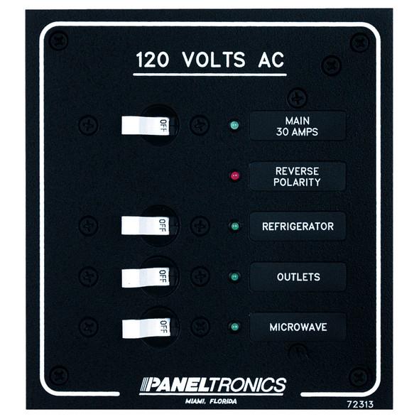 Paneltronics Standard AC 3 Position Breaker Panel & Main w/LEDs