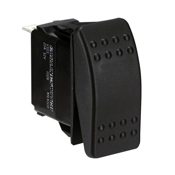 Paneltronics DPDT ON/OFF/ON Waterproof Contura Rocker Switch w/LEDs - Black