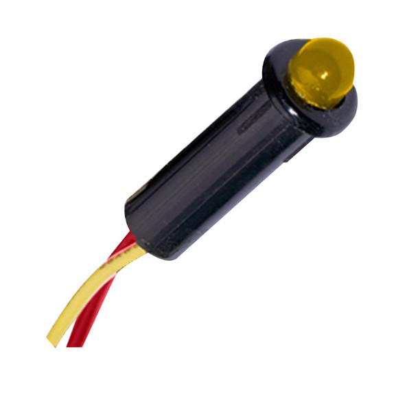 "Paneltronics 5⁄32"" LED Indicator Light - 12-14VDC - Amber"