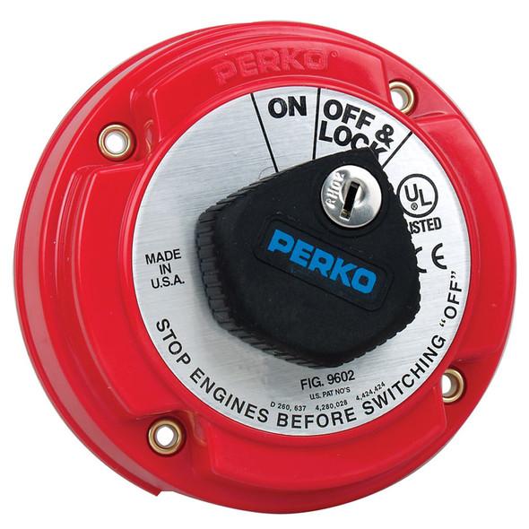 Perko Medium Duty Main Battery Disconnect Switch w/Key Lock