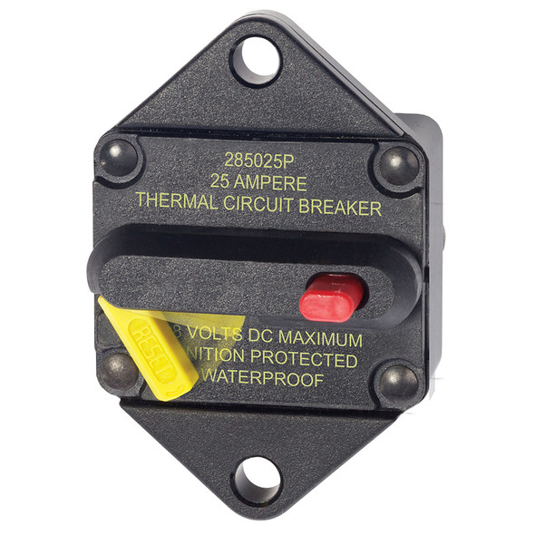 Blue Sea 7080 25 Amp Circuit Breaker Panel Mount 285 Series