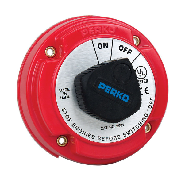 Perko Medium Duty Battery Disconnect Shut Off/On - 250 Amp Continuous, 12-32VDC