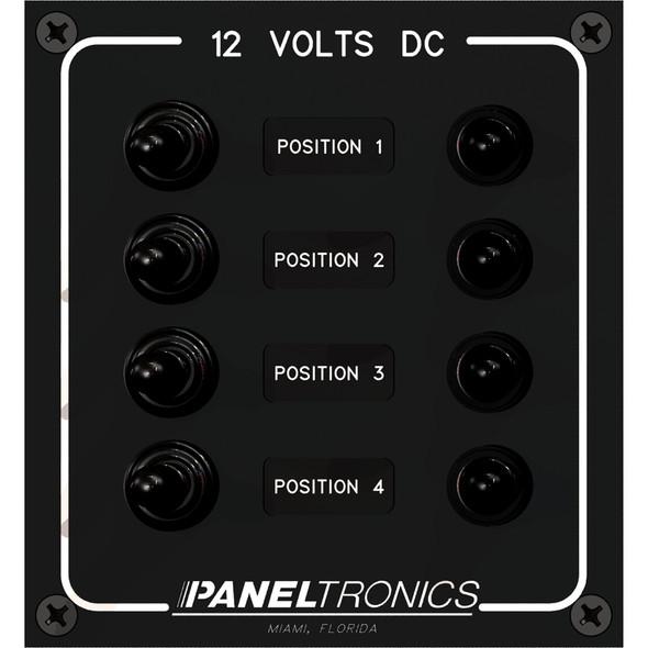 Paneltronics Waterproof Panel - DC 4-Position Toggle Switch & Circuit Breaker