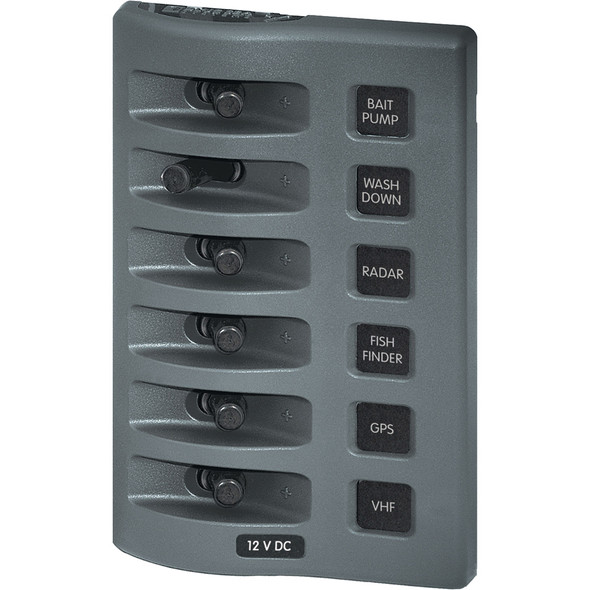 Blue Sea 4307 WeatherDeck 12V DC Waterproof Switch Panel - 6 Position