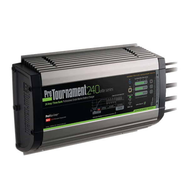 ProMariner ProTournament 240elite Triple Charger - 24 Amp, 3 Bank