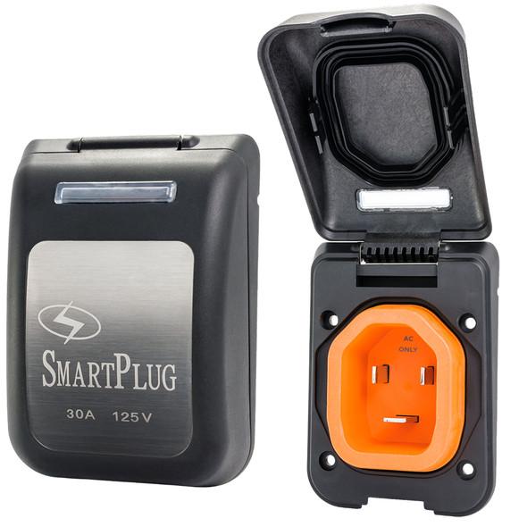 SmartPlug 30 Amp Non Metallic Black Inlet - Boat & RV Side