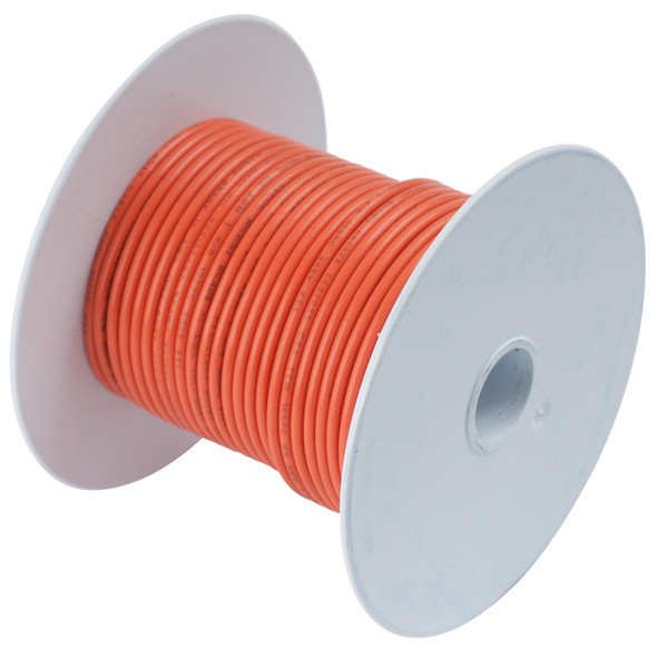 Ancor Orange 18 AWG Tinned Copper Wire - 100'