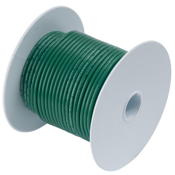 Ancor Green 16 AWG Tinned Copper Wire - 100'