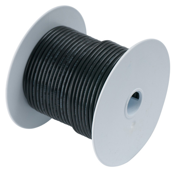 Ancor Black 12 AWG Tinned Copper Wire - 25'