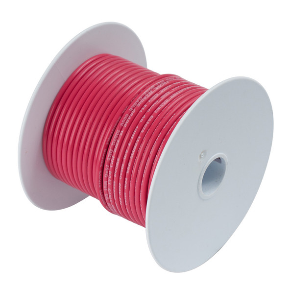 Ancor Red 8 AWG Tinned Copper Wire - 50'