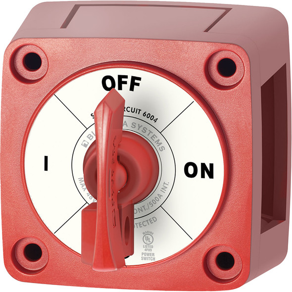 Blue Sea 6004 Single Circuit ON-OFF w/Locking Key - Red