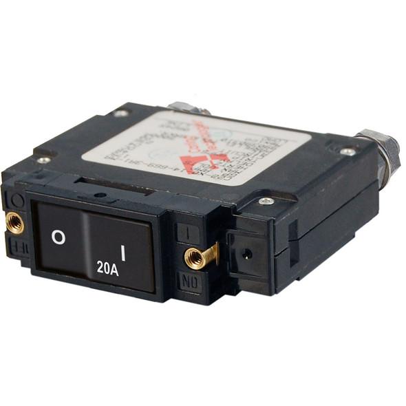 Blue Sea 7543 C-Series Flat Rocker Circuit Breaker - Single Pole - 20A
