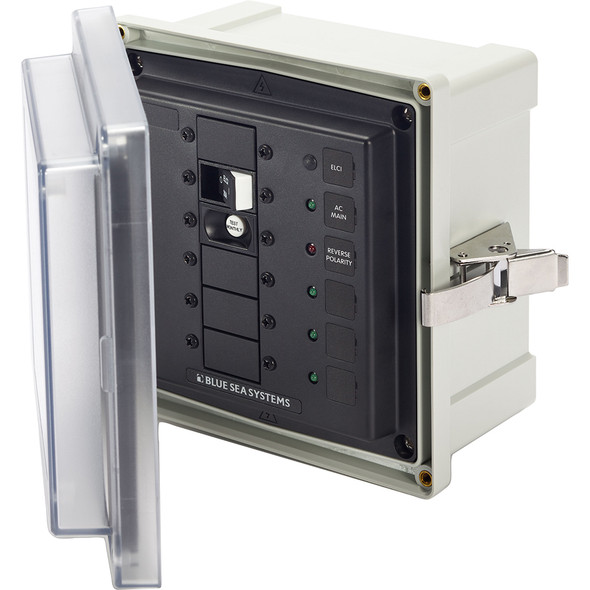 Blue Sea 3116 SMS Surface Mount System Panel Enclosure - 120V AC / 30A ELCI Main - 3 Blank Circuit Positions