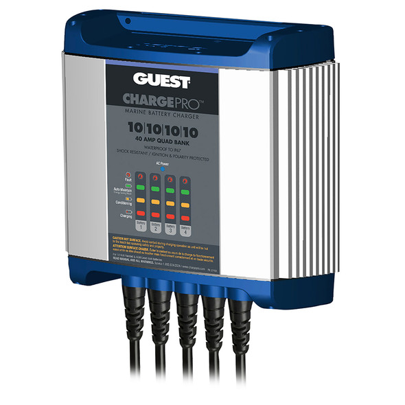 Guest On-Board Battery Charger 40A / 12V - 4 Bank - 120V Input