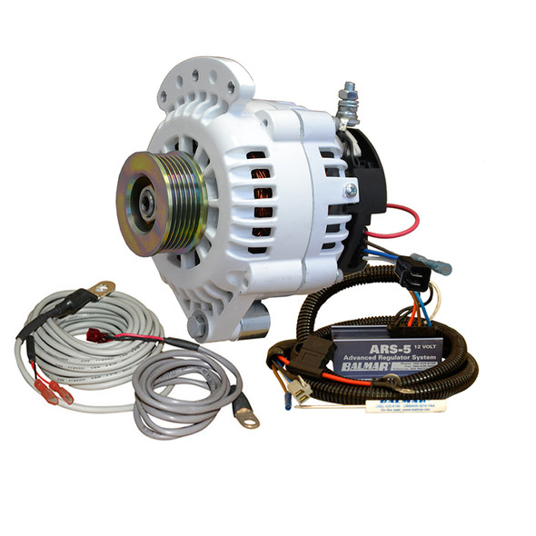 Balmar 621 Series Alternator - Spindle Mount(Single Foot) Charging Kit - K6 Serpentine Pulley - 100A - 12V