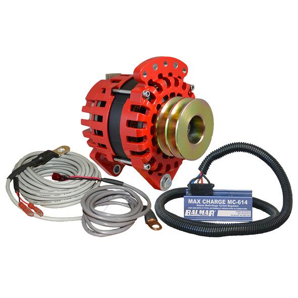 "Balmar Alternator 3.15"" Dual Foot Saddle Dual V Pulley Regulator & Temp Sensor - 170A Kit - 12V"
