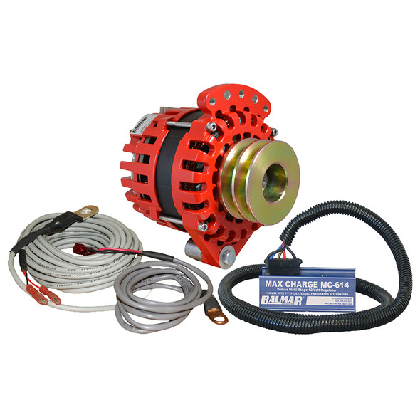 "Balmar Alternator 1-2"" Single Foot Dual V Pulley Regulator & Temp Sensor - 170A Kit - 12V"