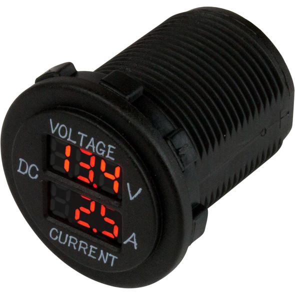 Sea-Dog Round Voltage & Amp Meter - 6V-30V & 0 Amp - 10 Amp Meter