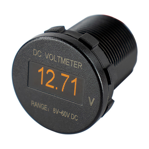 Sea-Dog OLED Voltmeter - Round