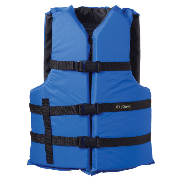 Onyx Nylon General Purpose Life Jacket - Adult Oversize - Blue