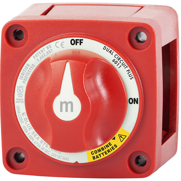 Blue Sea 6011 m-Series (Mini) Battery Switch Dual Circuit Plus