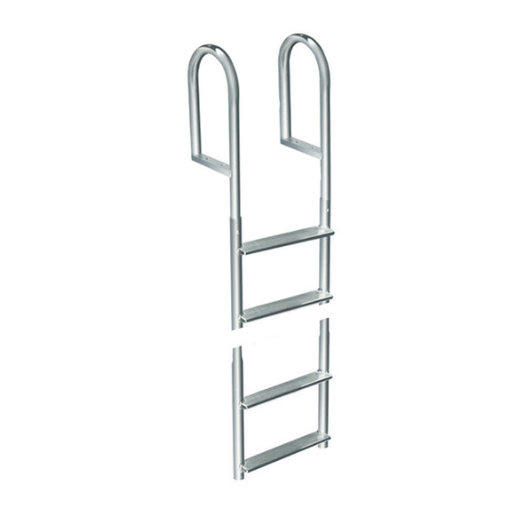 Dock Edge Welded Aluminum Fixed 4 Step Ladder