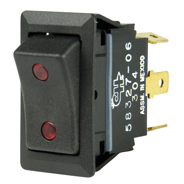 BEP SPDT Rocker Switch - 2-LEDs - 12V/24V - ON/OFF/ON