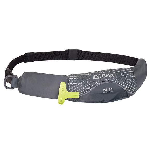 Onyx M-16 Manual Inflatable Belt Pack (PFD) - Grey