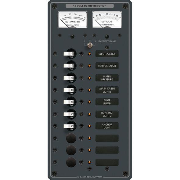 Blue Sea 8082 DC 10 Position Toggle Branch Circuit Breaker Panel