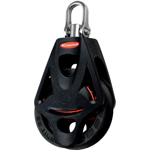 Ronstan Series 40 Ball Bearing Orbit Block - Single - Becket - Swivel Head
