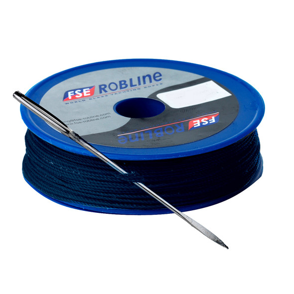 Robline Waxed Tackle Yarn Whipping Twine Kit w/Needle - Dark Navy Blue - 0.8mm x 40M