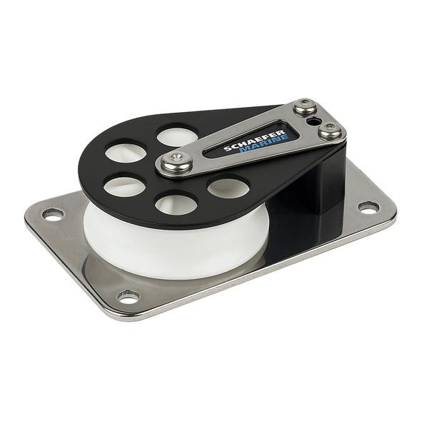 Schaefer Series 7 Flat Base/Aluminum Cheek/Delrin Sheave