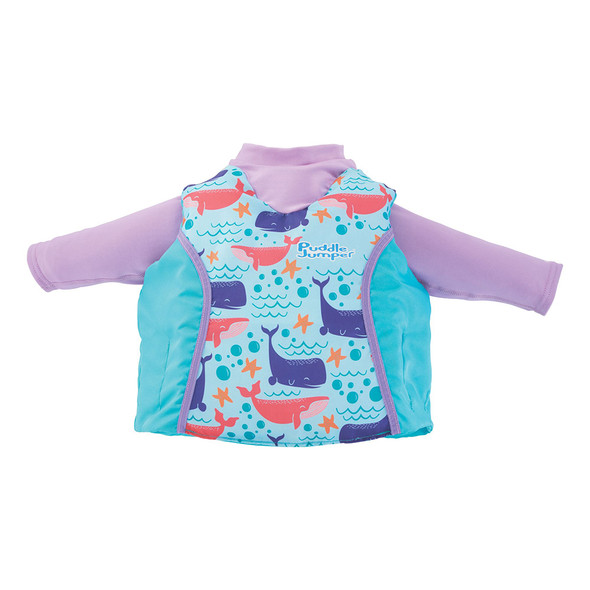Puddle Jumper Kids 2-in-1 Life Jacket & Rash Guard - Whales - 33-55lbs