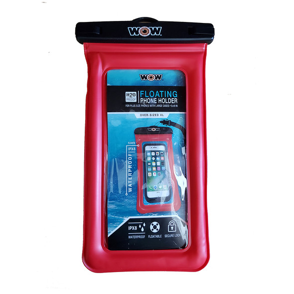 "WOW Watersports H2O Proof Smart Phone Holder - 5"" x 9"" - Red"
