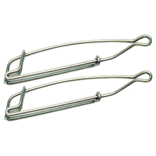 Scotty 1155 Large Nickel / Silver Trolling Snaps - 2 Pack