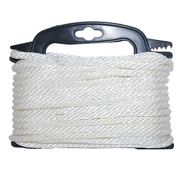 "Attwood Braided Nylon Rope - 3/16"" x 100' - White"