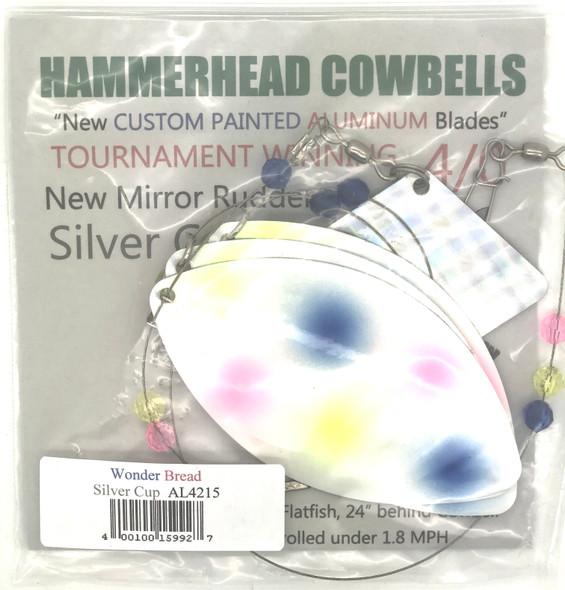 Hammerhead Custom Cowbell Spinners - 4/0 - Aluminum Wonder Bread - AL4215