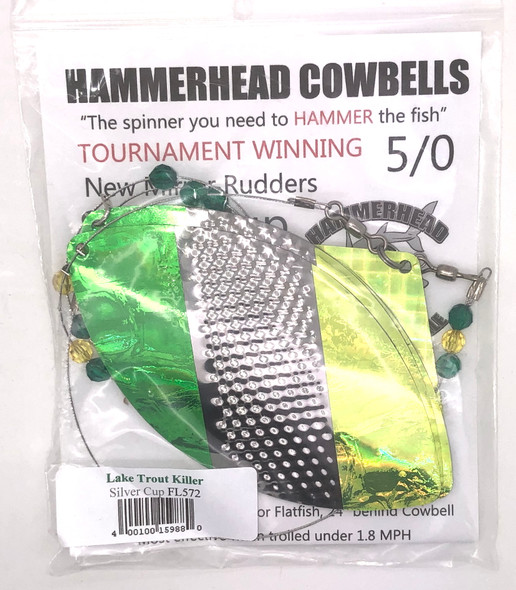 Hammerhead Custom Cowbell Spinners - 5/0 - Lake Trout Killer - FL572