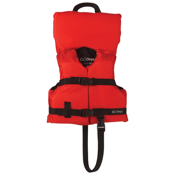 Onyx Nylon General Purpose Life Jacket - Infant/Child Under 50lbs - Red