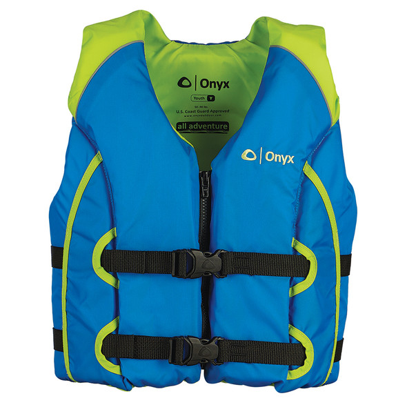 Onyx All Adventure Youth Life Jacket - 50-90lbs - Blue