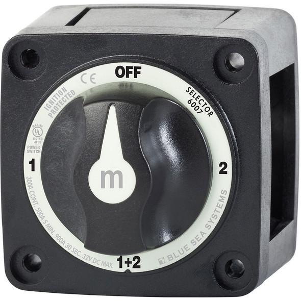 Blue Sea 6007200 Battery Switch Mini - 4 Position - Black