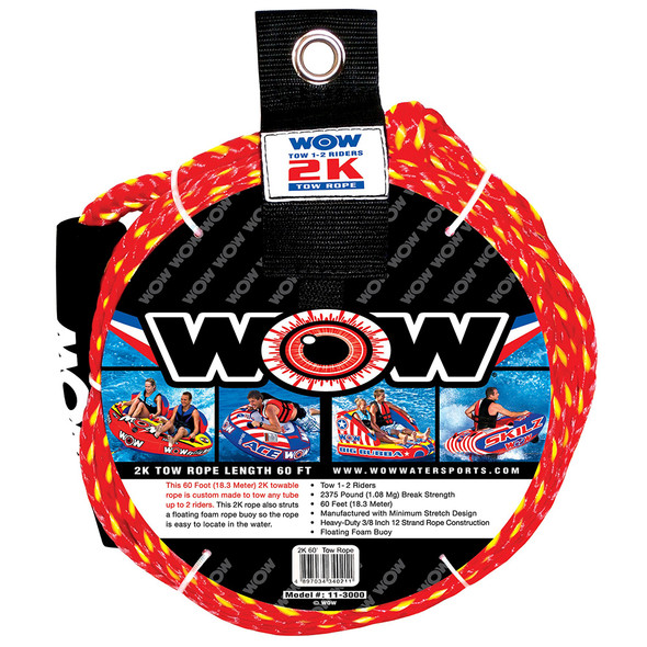 WOW Watersports 2K - 60' Tow Rope