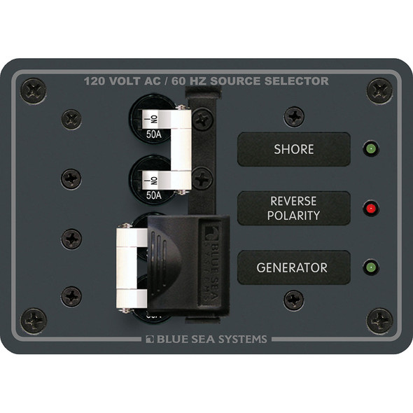 Blue Sea 8061 AC Toggle Source Selector 120V AC - 50AMP