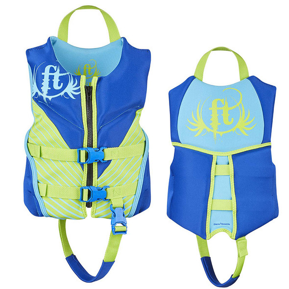 Full Throttle Hinged Rapid-Dry Flex-Back Life Vest - Child 30-50lbs - Blue